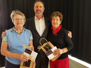 Helen Fisher and Sheila Fraser with Representative from the event sponsor.