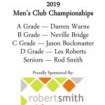 Info of Winners Men's 2019